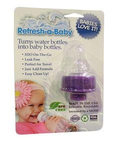 Look at this #zulilyfind! Purple Bottle Adapter - Set of Two by Refresh-a-Baby #zulilyfinds