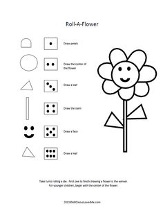 roll a picture dice game, several to choose from
