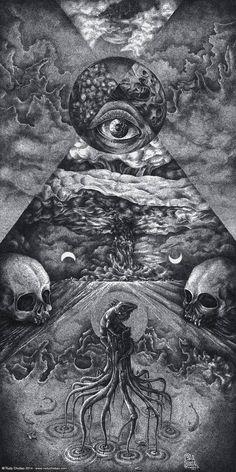 """Dysprosium"" Ink Pointillism on Paper Dark Artwork, Dark Art Drawings, Drawing Faces, Skull Drawings, Arte Horror, Horror Art, Architecture Drawing Art, Evil Art, Satanic Art"