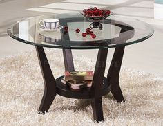Large Round Glass End Table - So you searching for the best dining table to really go into that apartment you rented? Or you require a new stylish piece Decor, Coffee And End Tables, Glass End Tables, Glass Top Coffee Table, Dining Table, Table, 3 Piece Coffee Table Set, Comfy Chairs, Round Glass