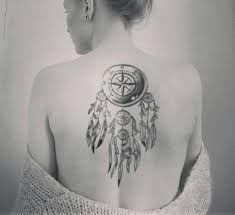 Slikovni rezultat za dream catcher compass tattoo