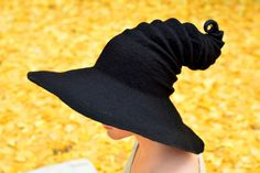 Wide Brim Halloween Witch Hat. Wizard Hat. Fantasy Hat. Cosplay Hat. LARP.