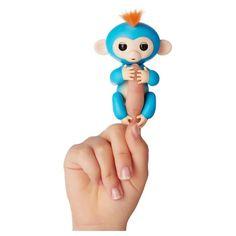 Tireless Fingerlings Baby Monkey Boris Wowwee – New blue With Orange Hair Authentic