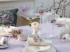 Romantische & zarte Tischdeko - Tischdeko zur Hochzeit 13 - [LIVING AT HOME]