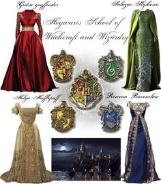 Hogwarts house themed ball gowns all about me в 2019 г. Harry Potter Welt, Harry Potter Dress, Harry Potter Style, Harry Potter Outfits, Harry Potter Pictures, Harry Potter Hogwarts, Maquillage Harry Potter, Objet Harry Potter, Marvel Inspired Outfits