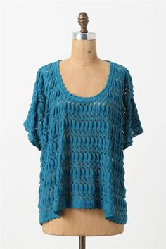 Anthropologie Furrowed Eyelets Pullover