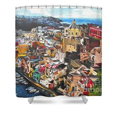 Shower Curtains - Porto di Acquamorta 2 Shower Curtain by Kevin J Cooper Artwork