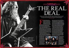 MHR265 Dimebag feature from 2014 for Metal Hammer Magazine in the UK.