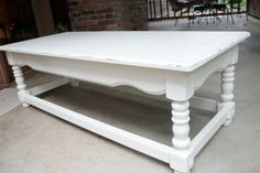 thriftstore coffee table creamy white