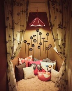 10 reading nooks for your children.  This isn't just for kids, adults would love it, too.