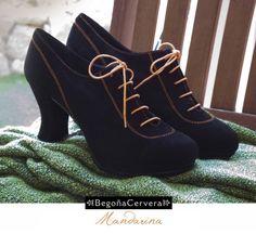 Mandarina-Begoña Cervera ¡Echa un vistazo! ►//bit.ly/1gjFyF2 Flamenco Shoes, Dance Shoes, Walking Gear, Dance Costumes, Oxford Shoes, People, Women, Fashion, Heels