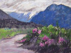 "Daily Paintworks - ""Alpine Pass."" - Original Fine Art for Sale - © Tatiana Myers"