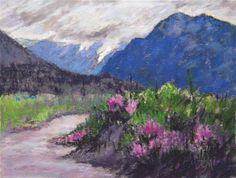 "Daily Paintworks - ""Alpine Pass."" - Original Fine Art for Sale - © Tatiana Myers"