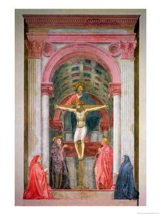 Tomasso Masaccio, Crucifixión, 1428, Iglesia de Santa María Novella, Florencia