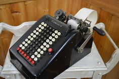 Awesome vintage adding machine...industrial, steampunk, antique office equipment!  L.C. Smith and Corona Typewriters Inc. Vintage Adding Machine