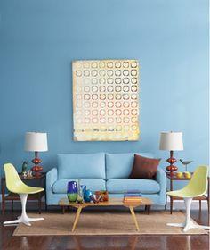 simple living room   via real simple