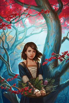 arya stark from tumblr jason chan art - it's the cover of some book but gives a (slightly) grown up arya stark vibes (she's definitely not horseface, but she's growing into a lyanna-type-beauty)