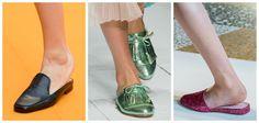 Modne buty na wiosnę 2017: mule, Aalto, Laura Biagiotti, Giamba, fot. Imaxtree, kolaż ELLE.pl
