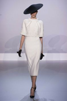 Ralph and Russo Haute Couture 2014 Couture Fashion, Runway Fashion, Spring Fashion, Womens Fashion, Black And White Outfit, White Dress, Ralph & Russo, Spring Couture, Creation Couture