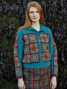 Parsely - Knit this pretty ladies cardigan from Windswept. A design by Marie Wallin using the gorgeous yarn Felted Tweed (wool,alpaca and viscose), th...