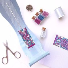 Happy Friday! I'm thinking of blueberry and raspberry... They're on the loom #TGIF