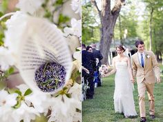 love the idea of tossing lavender at the couple as they walk back up the aisle