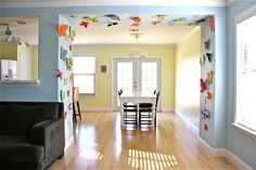 cute - make paper butterflies - kids make at party or make ahead and decorate house