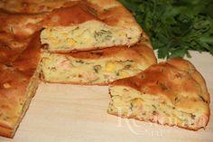 Рецепты: Наливной пирог с рыбой, сыром и зеленью