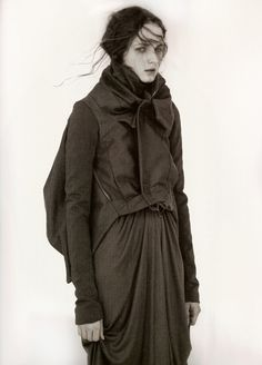 Angelika Kocheva in Rick Owens photographed by Andreas Sjödin