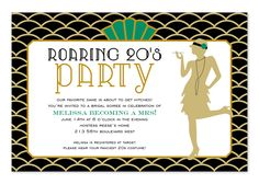Roaring Twenties party invitation, inspired by The Great Gatsby