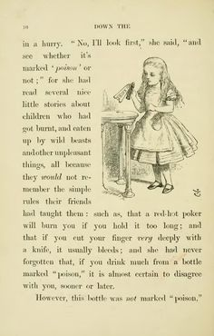 Page:Lewis Carroll - Alice's Adventures in - Wikisource, the free online library Adventures In Wonderland, Alice In Wonderland, Mad Hatter Tea, Mad Hatters, Alice Quotes, Unusual Art, Lewis Carroll, Book Worms, Quotes To Live By