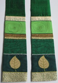 Woodland Stole for ordinary time Altar Design, Church Design, Church Banners Designs, Prayer Stations, Altar Cloth, Altar Decorations, Textiles, Quilts, Embroidery