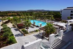 The view from our balcony at the Conrad Algarve, Portugal!