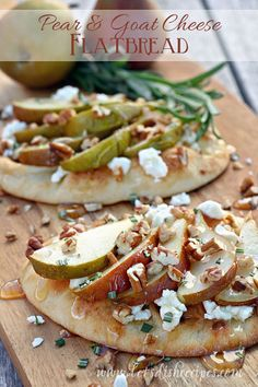 Pear and Goat Cheese Flatbread (Market Monday)