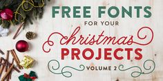 Free Fonts for DIY Christmas Projects - Volume 2 | Elegance & Enchantment