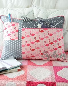 Study Pillow sewing patter from Project Teen  ...but make an even larger zippered pocket on the back to store a small maybe fleece throw and add a zipper to the top small pocket for thee most perfect travel blanket!