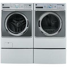 5.2 cu. ft. Front-Load Washer & 9.0 cu. ft. Dryer Bundle - White