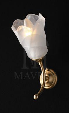 ΜΑΥΡΟΣ -- Classic wall lamp with Murano crystal | NYMPHEO
