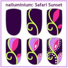 Nailuminium: Safari Sunset (+tutorial) #nail #nails #nailart