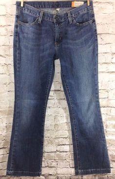 "GAP Long and Lean Jeans Size 8 / 31 Medium Distressed Wash Stretch Denim 32"" #GAP #BootCut #LongandLean"