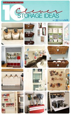 10 creative & inexpensive storage ideas. Curated by @Carmel Keane Keane (@ Our Fifth House) Phillips