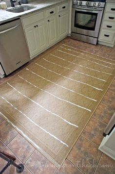Using silicon caulk to keep a rug from slipping