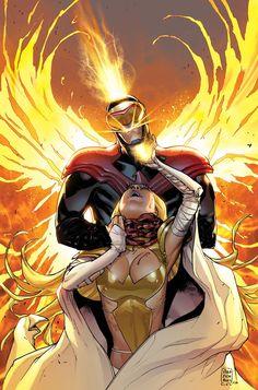 Emma Frost vs Phoenix Cyclops by Sara Pichelli