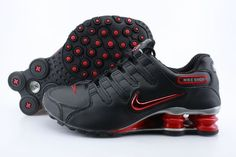 huge selection of 3cd9b 2ed69 Mens Nike Shox NZ Black Red Logo Shoes Pumas Shoes, New Jordans Shoes,  Adidas