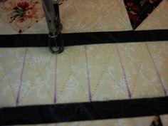 Simple Diamond Sash tutorial, Green Fairy Quilts