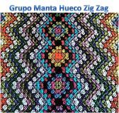 Tutorial Manta Hueco Zig Zag. Pattern in Spanish and English here http://buscandocomienzos.wordpress.com/tutorial-manta-hueco-zig-zag/