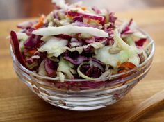Coconut Oil Vinaigrette Coleslaw