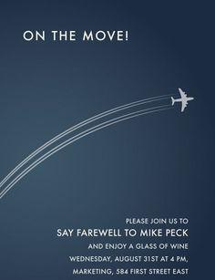farewell invitations free printable