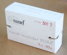 Handmade Soap Box packaging with template.  Love!