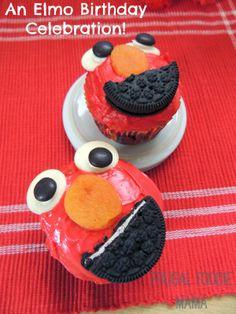 An Elmo Birthday Celebration via thefrugalfoodiemama.com - lots of great party food ideas! #Elmo